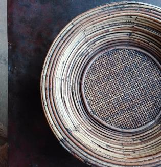 A antique rotan indonesian bowl