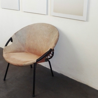 A beige suède seat, Lush Germany