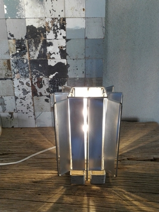 A Max Sauze aluminium little table lamp