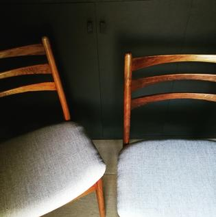 A pair of Danish midcentury palissander diningchairs