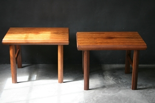 A pair of scandinavian palissander bedside tables