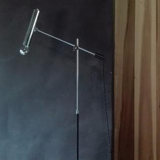 A very elegant chrome floorlamp