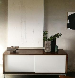 A wenge and white sideboard by Martin Visser