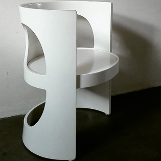 A white pre-pop Arne Jacobson chair