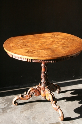 Austrian marquetery table
