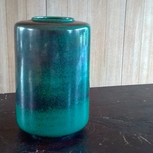 Beautiful green ceramic vase by Steuler, Germany