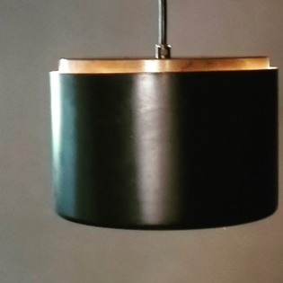 Black and messing pendant light