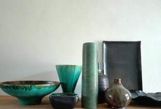 Collection of ceramic vases and plates