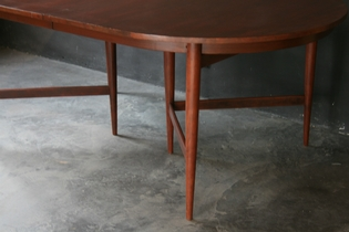 Dining table by Arne Vodder with two extensions