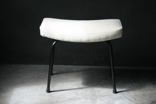 Newly upholstered footstool
