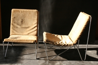 Pair of Bachelor chairs by Verner Panton