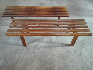 pair of benches wenge wood, one by Martin Visser