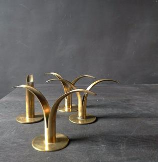 Pair of swedish brass chandeliers by Ystadt