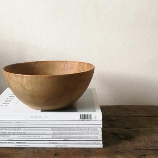 Patinated wooden bowl