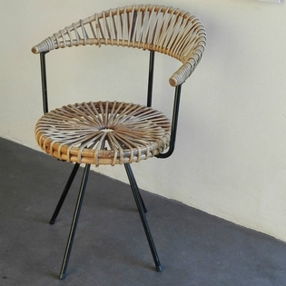 Rotan chair by Dirk Van Sliedrecht for Rohe