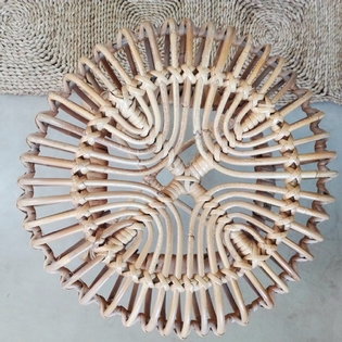 Rotan stool by Franco Albini