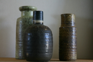 Set of pottery vases.