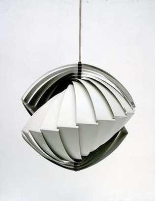 White Konkylie hanging lamp by Louis Weisdorf